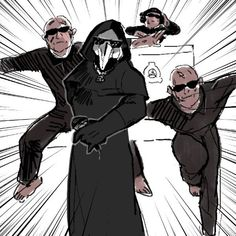 Scp Cb, Funny Kid Drawings, Creepypasta Cute, Plague Doctor, Funny Scenes, Cute Gay, Drawing For Kids, Funny Kids, Videogames