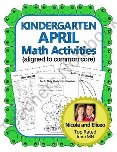 Kindergarten Common Core Math Pack for April product from NicoleAndEliceo on TeachersNotebook.com