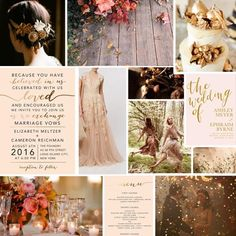 Rustic, organic, and foil details will make for a most dreamy #fall wedding. | Via @aandbcreative