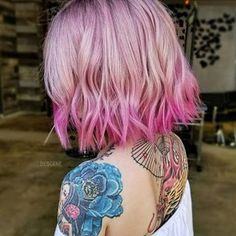 Remember? Modern Pink Melt and Cut by @bescene #hotonbeauty #flashbackfriday . . . . #pinkcolormelt #pinklob #edgyhair #flashbackfridays