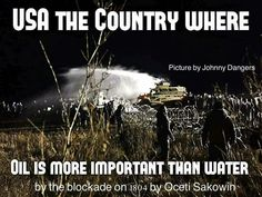 USA the Country where Oil is more Important than Water