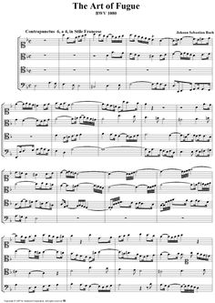 The Art of Fugue: Contrapunctus 6 Bach - Sheet 1