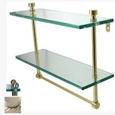 Allied Brass Prestige Regal 2-Tier Satin Nickel Brass Bathroom Shelf P