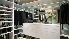 A monochromatic wardrobe translates into a stylish closet. Courtesy Pinterest  - HarpersBAZAAR.com