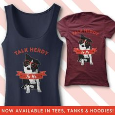 Talk herdy to me border collie shirt #shirt #bordercollie