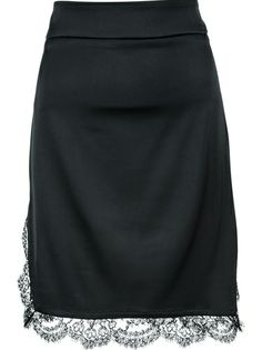 ROBERTO CAVALLI - lace detail mini skirt