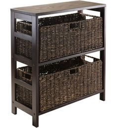 This Storage Shelf with Baskets gives you a simple way to store just about anything in your home or office.
