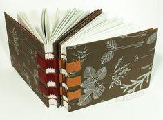 a sketchbook / journal handbound and bookcased by RedBarnStudios