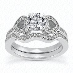 NEW DIAMOND ENGAGEMENT SET by Unique Settings, available at Jewelry Savers