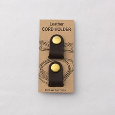 leather cord holder