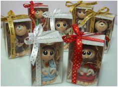 Santinhos em Biscuit Infantilizados | Art Di Cris | Elo7