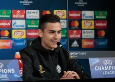 Paulo Dybala during the press conference before Champions League match between Juventus v Porto, in Turin, on March 13, 2016