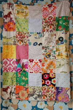 simple vintage patchwork quilt