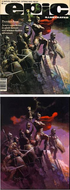 FRANK FRAZETTA - Epic Illustrated - Premiere Issue - Spring 1980 - Marvel Comics cover by cap's'n comics