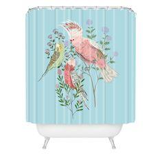 Pimlada Phuapradit The Three Birds Shower Curtain | DENY Designs Home Accessories