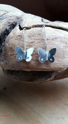 Silver Dangle Butterflies Dangle Butterflies by flowerpecker