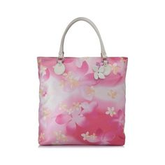 Pre-Owned Salvatore Ferragamo Floral Print Tote ($597) ❤ liked on Polyvore featuring bags, handbags, tote bags, pink, pink handbags, boho purses, purple tote bags, tote purses and floral handbags