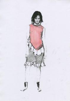 JW Anderson - Sketch - Fashion Illustration