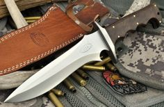 "CFK USA Custom Handmade 3/16"" 1095HC Satin Walnut Burl Combat Dragon Bowie Knife #CFKCutleryCo"