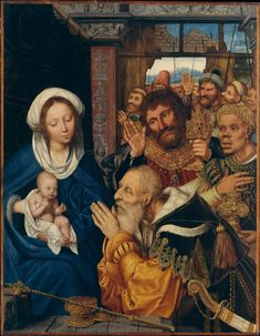 The Adoration of the Magi ---Quentin Massys 1526 Oil on wood, 103 x 80 cm Metropolitan Museum of Art, New York Canvas Wall Art, Canvas Prints, Framed Prints, Renaissance Kunst, Madonna And Child, Christian Art, Religious Art, Heritage Image, Metropolitan Museum