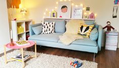 Scandinavian Style Living Room || Chalk Kids