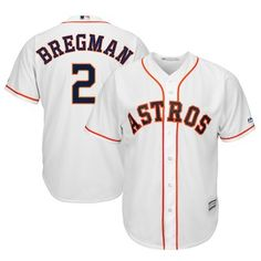 2d2b62ab2 Alex Bregman Houston Astros Majestic Home Official Cool Base Player Replica  Jersey - White Spring