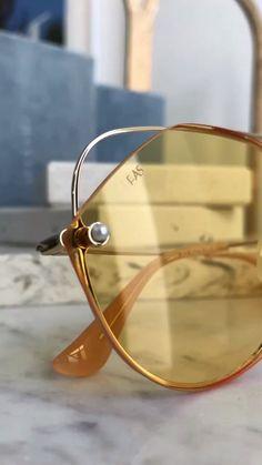 Celebrity Sunglasses, Luxury Sunglasses, Sunglasses Online, Glasses Frames Trendy, Versace Eyewear, Oversized Glasses, London Summer, Eyewear Online, Fashion Videos