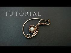 Wire Jewelry Making, Jewelry Tools, Wire Wrapped Jewelry, Jewelry Ideas, Diy Jewelry, Video Tutorials, Craft Tutorials, Clay Videos, Wire Jewelry Designs