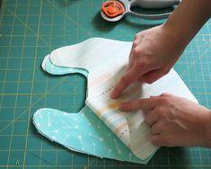 Baby Drool Bibs With FREE Pattern Sewing Patterns Free, Free Pattern, Crib Sheet Tutorial, Drool Bibs, Fabric Scissors, Pom Pom Trim, Baby Sewing, Baby Bibs, Print And Cut