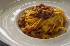 Tagliatelle with Bolognese sauce at an Agriturismo farm tour and cooking class in Bologna