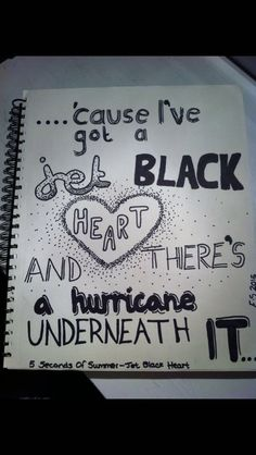 Do you know who did that? I think it's amazing! #5sos #jetblackheart