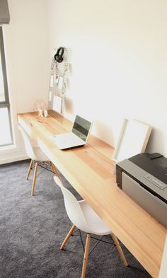 A Recycled Messmate floating desk installed in Moolap - Fix Up Look Sharp