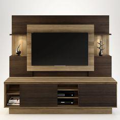 Estante Home para TV até 55 Polegadas Aron Linea Brasil Capuccino Wood / Ébano - MadeiraMadeira Tv Unit Interior Design, Tv Unit Furniture Design, Tv Wall Design, Modern Tv Unit Designs, Modern Tv Wall Units, Living Room Tv Unit Designs, Home Para Tv, Home Tv, Tv Unit Decor