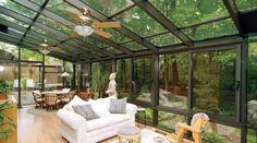 simple glass enclosed patio
