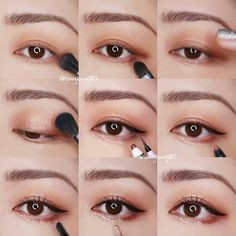 #Korean Eye Make Up #longlong180 #Koreanmakeuptutorials