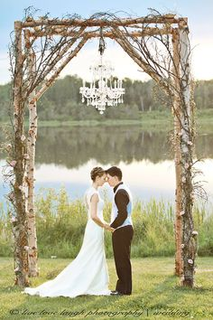 Arbor With Chandelier My Amazing Wedding Photograph Taken By Trisha Of Live Love Laugh