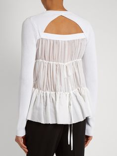 Click here to buy No. 21 Ruffled-back cotton-blend sweater at MATCHESFASHION.COM