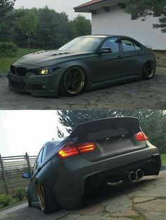 BMW F80 M3 green widebody slammed