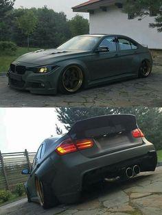 BMW F80 M3 green widebody slammed