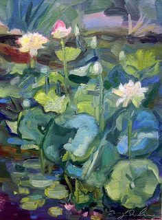 Chanticleer Lotus Pond Path of Life 5 by MoniqueKenSarkessian