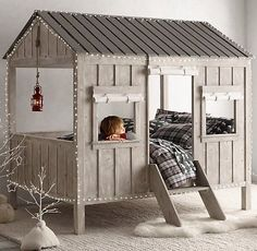 This is awesome! Love the little windows and the ladder to get in. I'd have one for any little ones that came to visit!