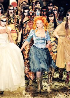 "Vivienne Westwood. Epic.  ""When in doubt, overdress.  If you look over-the-top in your outfit you can make the most boring occasion have some interest.  And it's quite a generous thing to do for everyone else.""  Love her!"
