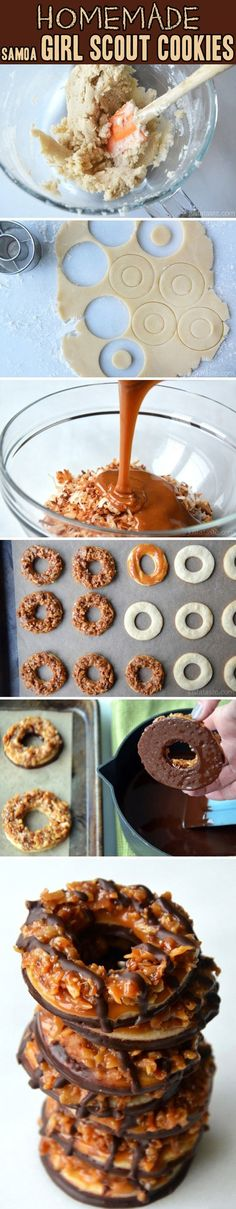 Homemade Samoa Girl Scout Cookies.