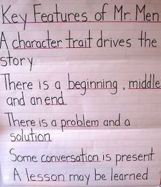 Tales from a Tidy Teacher: Creating a Character Trait Study