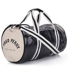 Sac de sport Classic Barrel Bag Fred Perry Noir et blanc - Galerieslafayette.com