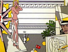 Roy Lichtenstein - Artist's Studio With Model, 1974