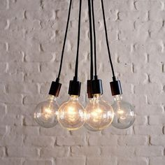 BAYCHEER Vintage Simple Designer Edison Bulb Loft Black Multi Light Pendant Lighting Lampe Chandelier 7 Bulbs *** See this great product. Exposed Bulb, Edison Light Fixtures, Exposed Bulb Lighting, Ceiling Pendant Lights, Modern Light Bulbs, Bulb, Iron Pendant Light, Modern Pendant Light, Ceiling Lights