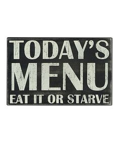 Look at this #zulilyfind! 'Today's Menu' Box Sign by Primitives by Kathy #zulilyfinds