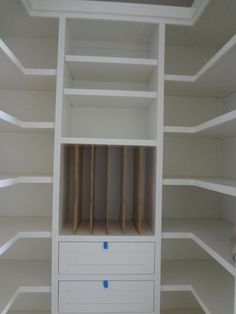 Small walk-in pantry- except my square area in the middle is actually a window