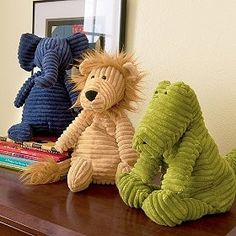 Corduroy Stuffed animals #DIY sewing project #crafts from kaboodle.com